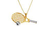Zlatý náhrdelník I love tennis dvojfarebný IZ10574