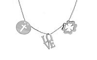 Zlatý náhrdelník s príveskami Celebrity CS9CE011A
