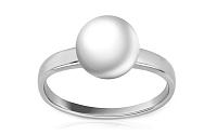Zlatý perlový prsteň Inez 3 white PE14A