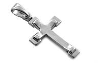 Zlatý prívesok biely krížik IZ8721A