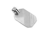 Zlatý prívesok platnička na gravírovanie white IZ6824A