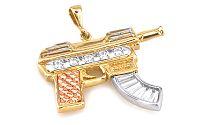 Zlatý prívesok Samopal IZ3026