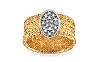 Zlatý prsteň Flexi so zirkónmi IZ9971