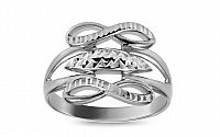Zlatý prsteň nekonečno s gravírom IZ10724A
