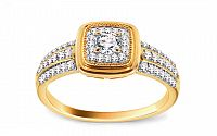 Zlatý prsteň s briliantmi KU445