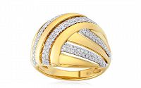 Zlatý prsteň s diamantmi IZBR205