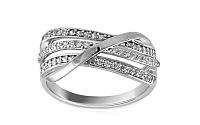 Zlatý prsteň so zirkónmi Chrysel white IZ8895A