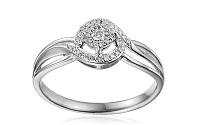 Zlatý zásnubný prsteň s diamantmi Clara white IZBR247A