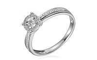 Zlatý zásnubný prsteň s diamantmi Oliveira white IZBR258A