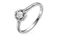 Zlatý zásnubný prsteň s diamantom Adel white IZBR158A