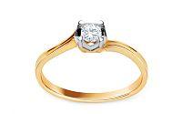 Zlatý zásnubný prsteň s diamantom Bara KU500