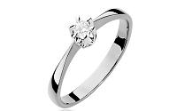 Zlatý zásnubný prsteň s diamantom Haidee white BSBR016A