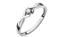 Zlatý zásnubný prsteň s diamantom Lisabet white BSBR031A