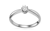 Zlatý zásnubný prsteň s diamantom Odetta white IZBR150A