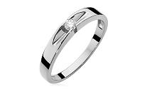 Zlatý zásnubný prsteň s diamantom Ofelia white BSBR026A