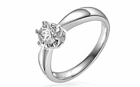 Zlatý zásnubný prsteň s diamantom Rasha white IZBR036A