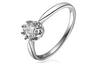 Zlatý zásnubný prsteň s diamantom Rona white IZBR145A