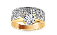 Zlatý zásnubný prsteň Tifanie big IZ8893