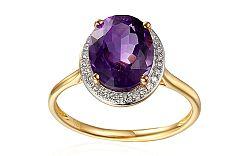 Ametystový prsteň s diamantmi Julee IZBR296