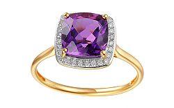 Ametystový prsteň s diamantmi Liriene IZBR295