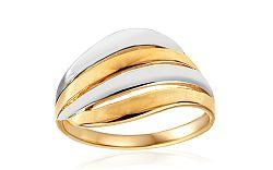 Celozlatý dvojfarebný prsteň IZ10735