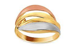 Celozlatý trojfarebný prsteň IZ10719
