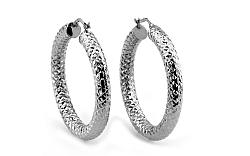 Dámske náušnice kruhy 3,5 cm biele IZ5901