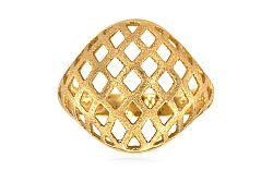 Dámsky celozlatý prsteň pieskovaný IZ5138