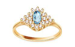 Dámsky prsteň s akvamarínom CS9RI1503C