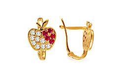 Detské náušnice červené jabĺčka IZ9242R