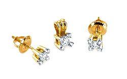Diamantová súprava Airine yellow 0,420 ct KU176