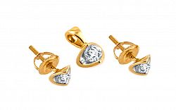 Diamantová súprava Alcarado 0,170 ct KU103S