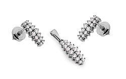 Diamantová súprava Callie z bieleho zlata KU567AS