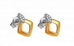 Diamantové náušnice 0,050 ct Deluxe Force DB0041N