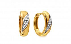 Diamantové náušnice 0,100 ct Deluxe Hoop DB0019