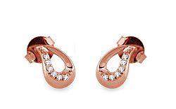 Diamantové náušnice 0,100 ct Elis Pink KU301N