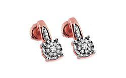 Diamantové náušnice 0,140 ct Woman pink Illusion KU249RN