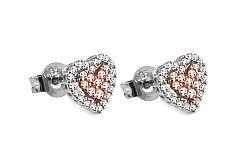 Diamantové náušnice 0,300 ct Pink Heart DB0038N