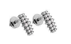 Diamantové náušnice Callie z bieleho zlata KU567A