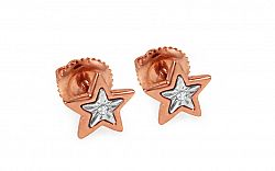 Diamantové náušnice hviezdy KU419R