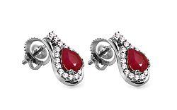 Diamantové náušnice s rubínmi 0,170 ct Relisia KU299N