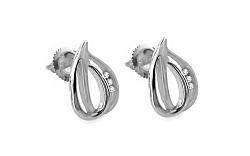 Diamantové náušnice Selena 0,050 ct white KU177AN
