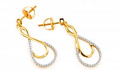 Diamantové náušnice Soltar 0,250 ct KU179