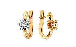 Diamantové náušnice Woman iLLusion KU528