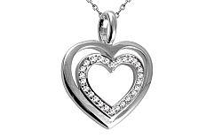 Diamantové srdiečko 0,110 ct Heart Simple DB007A