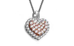Diamantové srdiečko 0,420 ct Pink Heart DB0038P