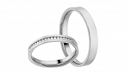Diamantové svadobné obrúčky 0,090 ct Yasmine diamonds 3 mm IZOBBR021A