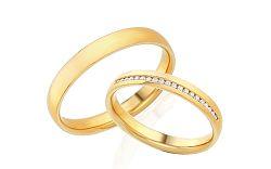 Diamantové svadobné obrúčky 0,100 ct Yasmine diamonds 3 mm IZOBBR025