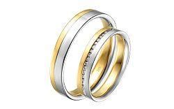 Diamantové svadobné obrúčky 0,100 ct Yasmine diamonds 4 mm IZOBBR015AY