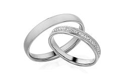 Diamantové svadobné obrúčky 0,110 ct Yasmine diamonds 3,5 mm IZOBBR011A